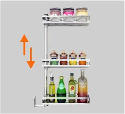 China Eco - Friendly	Stainless Steel Wall Spice Rack Drilling On Wall Easy Cleaning supplier