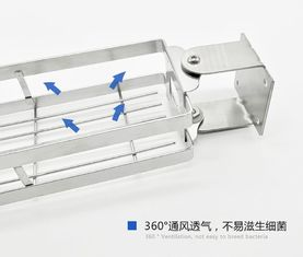 China Seasoning Powder Stainless Steel Spice Rack Wall Mount SUS304 Stainless Steel supplier