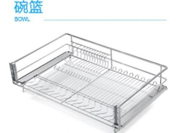 China Chromed Kitchen Pull Out Basket Stable Structure Easy Access With Guide Mechanism supplier