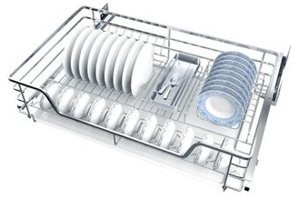 China 2 Tier Silver Kitchen Pull Out Basket With Damping Mechanism In Rail supplier