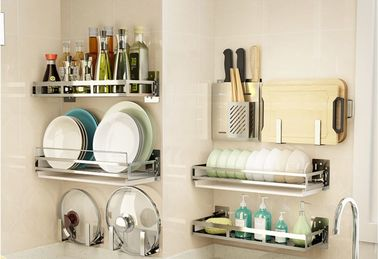 China Metal Tube Kitchen Storage Racks Non - Folding Rack With Multifunction supplier