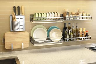 China Rust - Resistant Steel Rack For Kitchen , Stable Metal Kitchen Rack Shelves supplier
