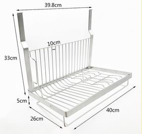 China Kitchen Wall Mounted Kitchen Organizer Rack Dish Drying With Drilling supplier