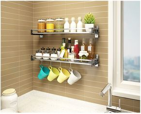China Kitchen Ware Kitchen Wall Storage Racks , Stocked Wall Mounted Pan Rack supplier
