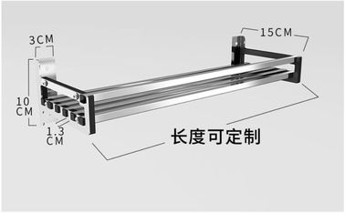 China Office And More Floating Wall Mounted Kitchen Rack 304 Stainless Steel Material supplier