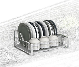 China Stylish Sturdy Stainless Steel Kitchen Rack Wire Medium Dish Drainer Drying Rack supplier