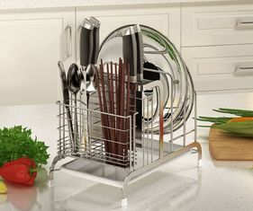 China Strong Bearing Kitchen Organiser Rack , No Tools Required Kitchen Knife Organizer supplier