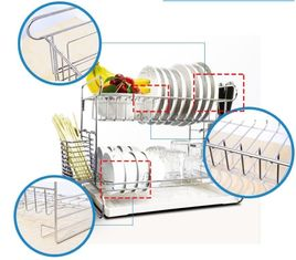 China Wall Mounted Kitchen Wire Baskets Large Storage Space Free Move For Houseware supplier