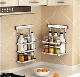 China Metal Hanger Wall Hanging Steel Kitchen Rack Movable Bathroom Storage factory