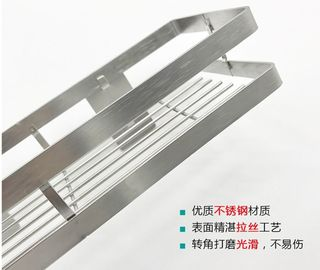 China No Nail Stainless Steel Wall Spice Rack Seasoning Shelf Polish Stainless Steel factory