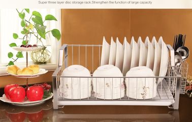 China Rust Proof Kitchen Wire Baskets Durable Stainless Steel Materials With Chopstick Holder distributor