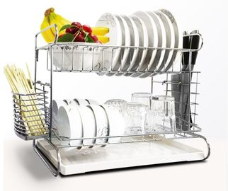 China Countertop Kitchen Wire Baskets Fork Chopsticks Storage With A Vegetable Plate factory