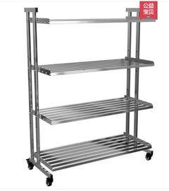 China Drilling Kitchen Rack On Wheels , Clutter - Free Metal Shelves In Kitchen distributor