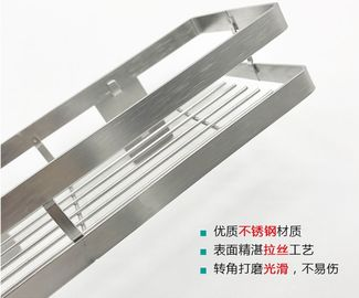 China 40cm Stainless Steel Kitchen Rack No Drilling Installation With Big Storage Space distributor