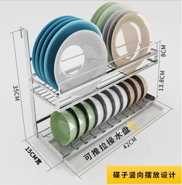 China Easy To Assemble Kitchen Houseware Organizer With Adjustable Pole ' S Length factory