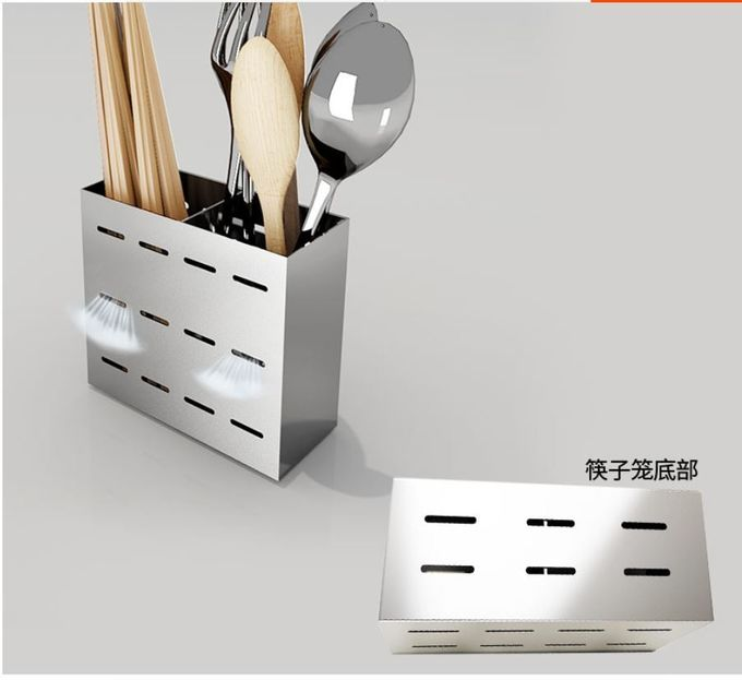 Polished Wall Mounted Kitchen Rack / Chopsticks Case For Chopsticks Spoon And Knife Storage