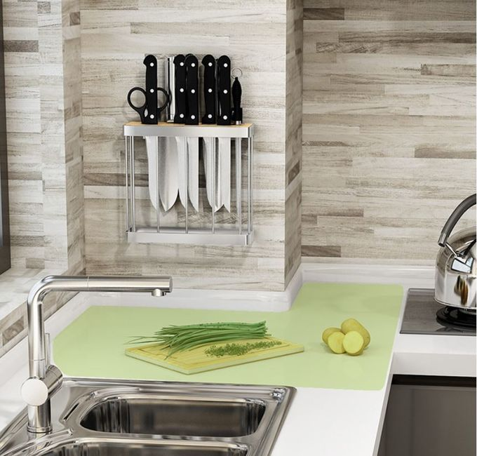 Knife Block Kitchen Wall Rack , Cutting Board Stand Tools Kitchen Hanging Rack