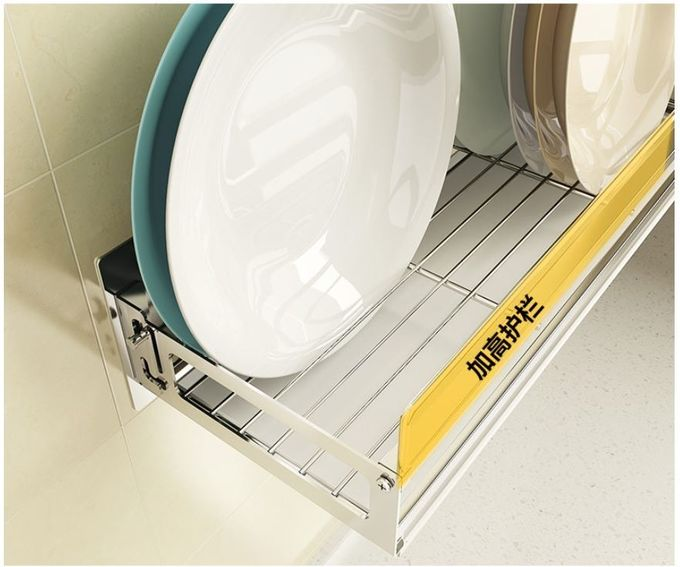 Easy Clean Wall Mounted Kitchen Rack Cabinet Stainless Steel Dish Drainer