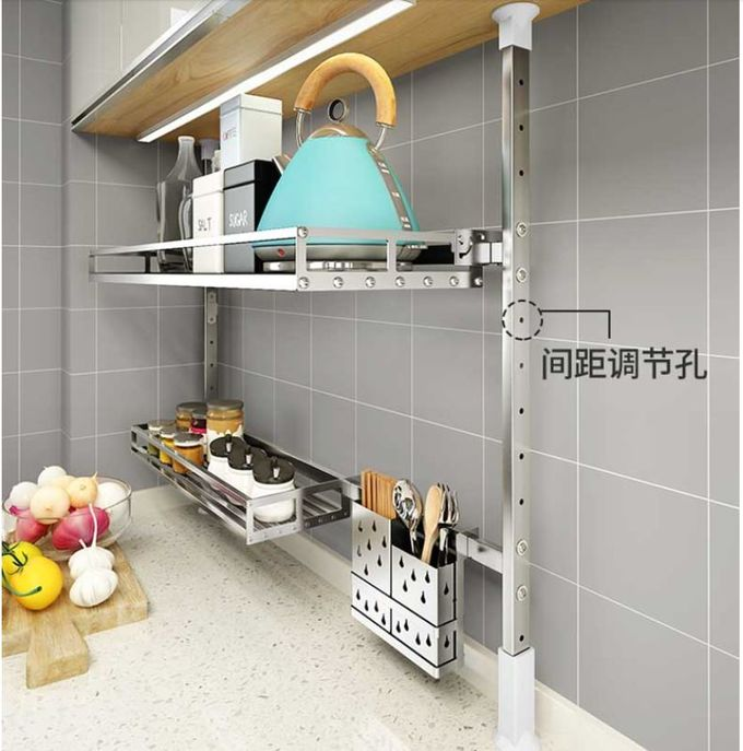 Wall Mounted Stainless Steel Dish Drying Rack , Kitchenware Compact Dish Rack