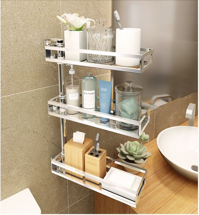 Countertop 2~4-Tier Steel Stand For Kitchen , Rotatable Storage Stainless Kitchen Rack