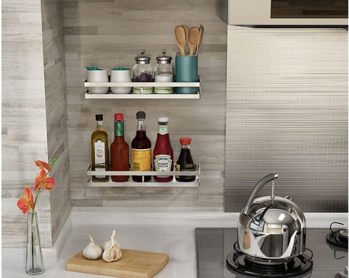 Two Layers Kitchen Storage Racks Thicker Plate Strong And More Durable