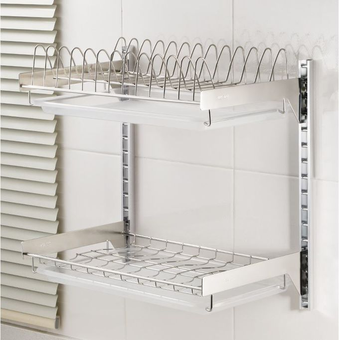 Wall Mounted Kitchen Wire Baskets Large Storage Space Free Move For Houseware