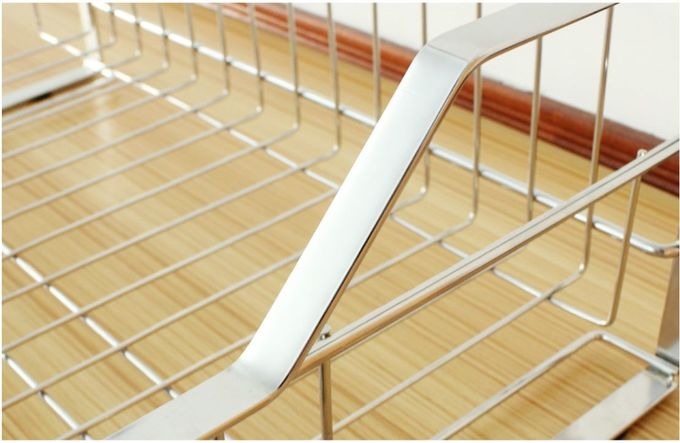 Stylish Sturdy Stainless Steel Kitchen Rack Wire Medium Dish Drainer Drying Rack