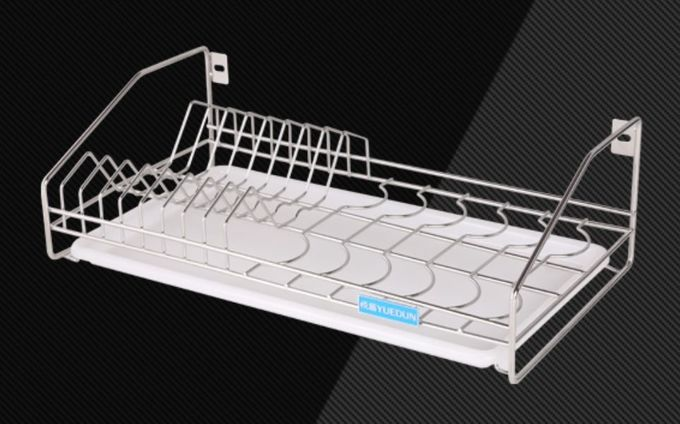 LS-905 Tray Holder Organizer Kitchen Wire Baskets Silver Color Custom Size
