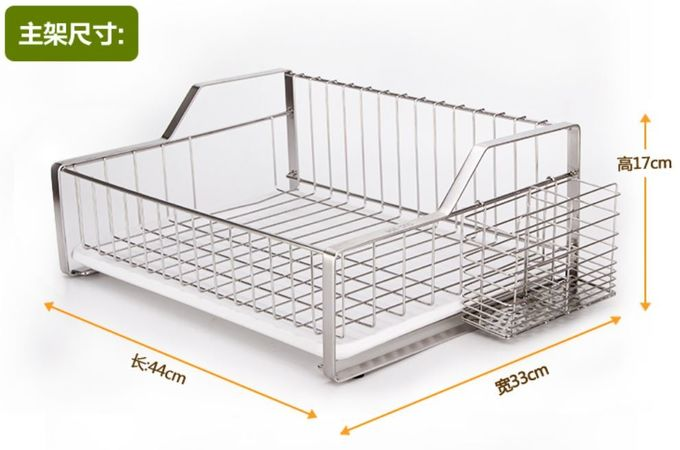 Rust Proof Kitchen Wire Baskets Durable Stainless Steel Materials With Chopstick Holder