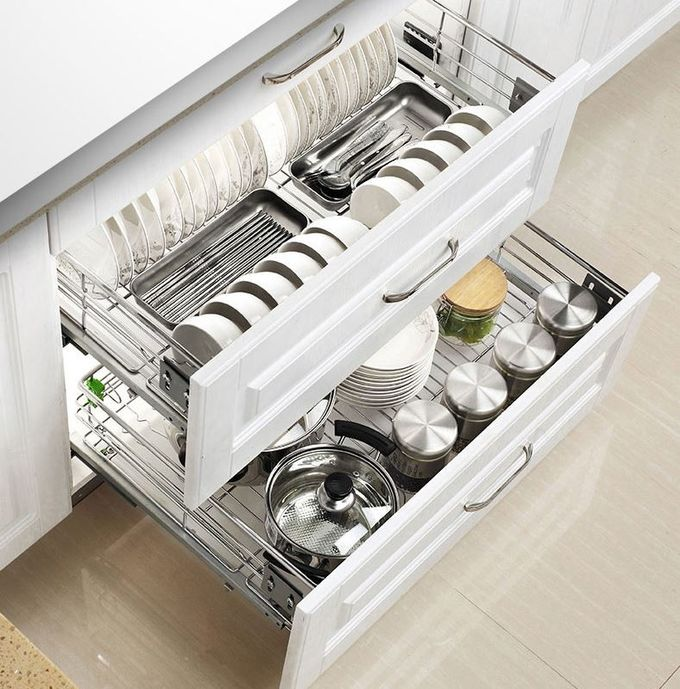 Mount Inside Cabinet Slide Out Baskets Metal Wire Kitchen