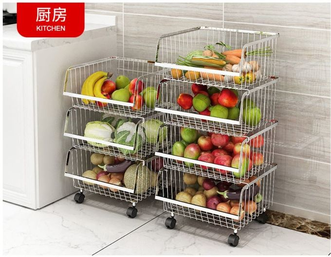 Non Extendable Wire Racks For Kitchen Cabinets , Corner Kitchen Rack With Rollers